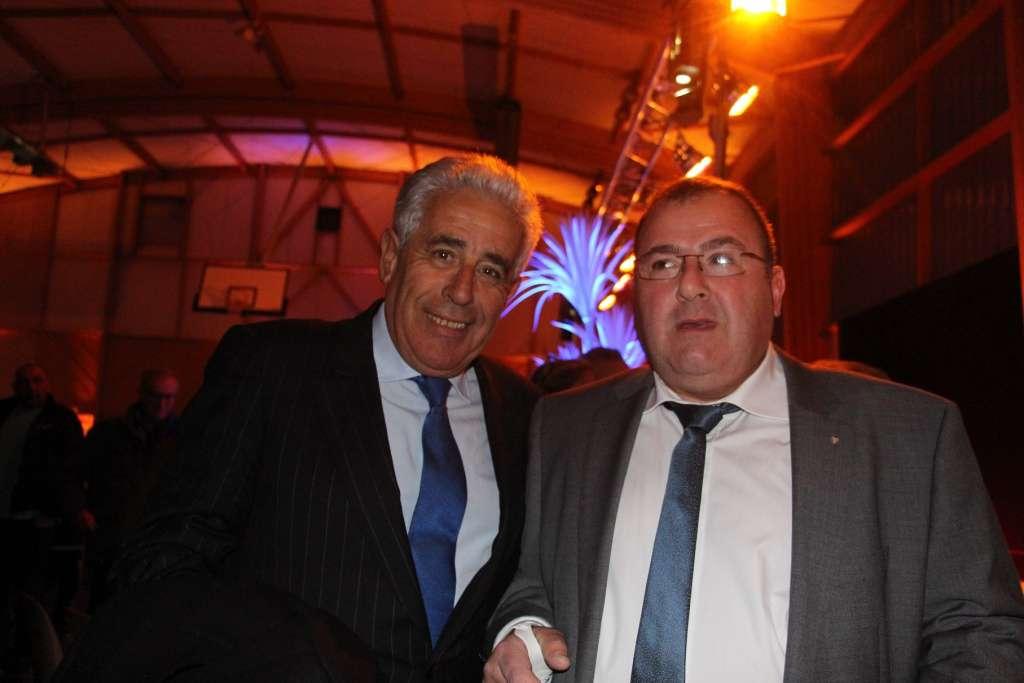 Alain Aubry (à droite) avec Yves Albarello, député et maire de Claye-Souilly