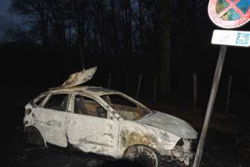 Brou voiture incendiée