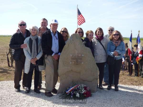 Villeroy ► L'hommage à l'équipage du bombardier B17 abattu par les allemands en septembre 1943