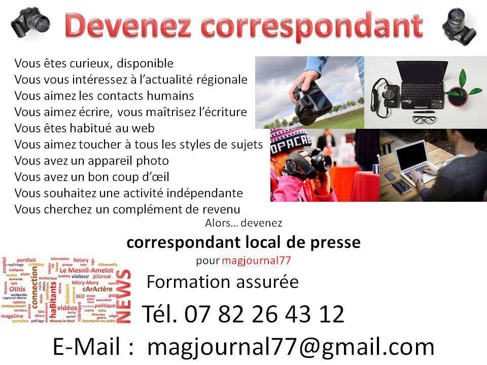 Devenez correspondant local de presse
