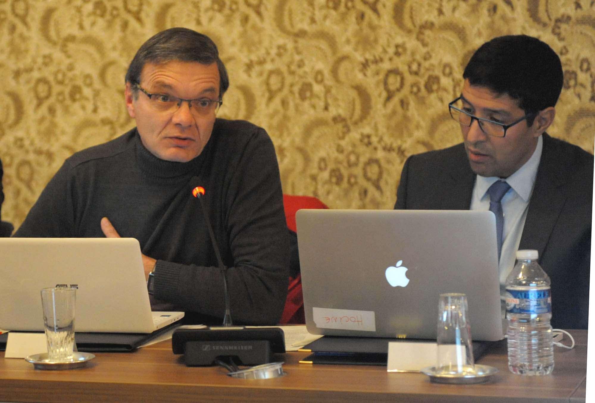 Dominique Girard a présenté le projet du plateau multisports au conseil du 24 janvier.