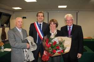 A Dammartin, le 14 novembre 2012 pour l'élection de Stéphane Jabut, avec Eugène Péresse, maire de 1989 à 1995, Monique Papin, maire de Dammartin de 1995 à 2012, Robert Le Foll, député de Seine-et-Marne de 1981 à 1993 et maire de Crégy-lès-Meaux de 1977 à 2001