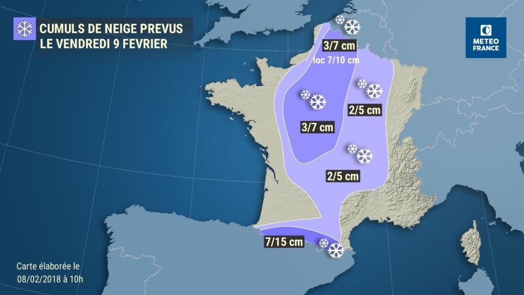 carte Météo France neige