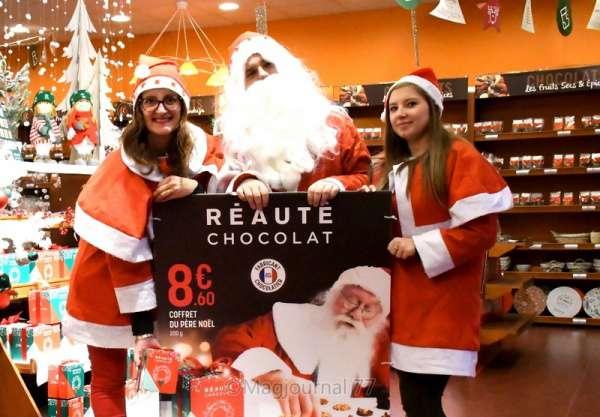 Nanteuil-lès-Meaux ► Réauté Chocolat : le Père Noël en personne a décoré la boutique