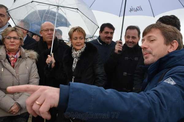 Vaires-sur-Marne ► Base nautique : visite du chantier du stade pour les jeux olympiques de 2024